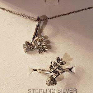 Jewelry - Diamond Necklace & Ring Set